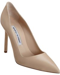 Manolo Blahnik Beige Bb Pumps - Lyst