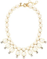 J.Crew Pearl Starburst Necklace - Lyst