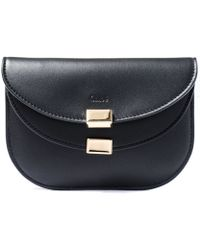 Chloé - Black Georgia Double-Flap Card Holder Purse - Lyst