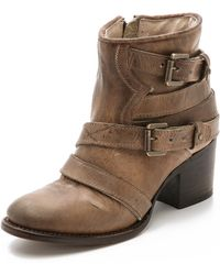 Freebird by Steven Estes Booties - Taupe - Lyst