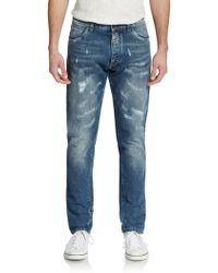 Dolce & Gabbana Distressed Straight-Leg Jeans - Lyst
