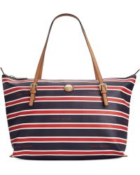 Tommy Hilfiger Th Stripe Large Convertible Tote - Lyst