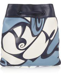 Miu Miu Appliquéd Leather Shoulder Bag - Lyst