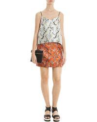 Mary Katrantzou Jacquard Mini Skirt multicolor - Lyst