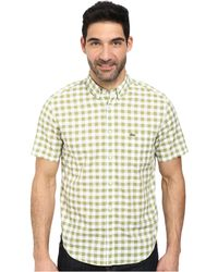 Lacoste Poplin Short Sleeve Bd Gingham Shirt white - Lyst