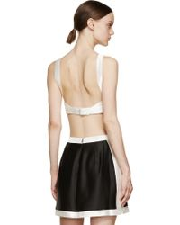 Osklen - Black And White Satin Triangle Top - Lyst