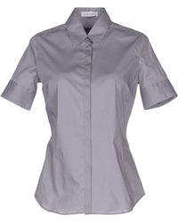 Costume National Shirt gray - Lyst