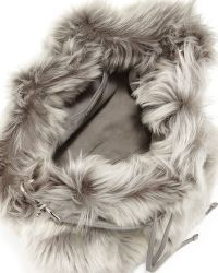 Ralph Lauren Shearling Fur Bucket Bag - Lyst