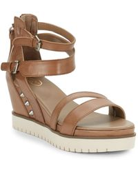 Ash Penelope Leather Platform Wedges - Lyst