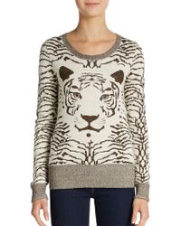 French Connection Glitter Tiger Sweater - Lyst
