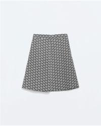 Zara Jacquard A-line Skirt - Lyst