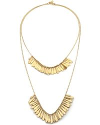 Kate Spade Fancy Flock Fringe Double-Row Necklace gold - Lyst