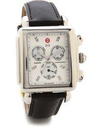 Michele 20Mm Calfskin Leather Watch Strap - Black - Lyst