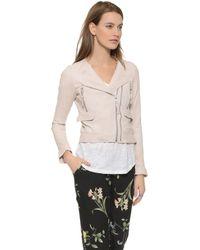 Joie Vivianette Leather Jacket - Soft Sand - Lyst