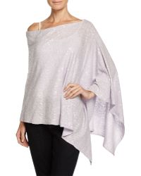 Minnie Rose   Sequin Boat-neck Poncho   Lyst