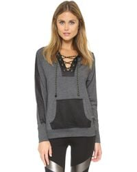 Apres Ramy Brook - Dylan Hooded Pullover - Charcoal - Lyst
