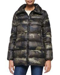 Moncler Torcy Camo-print Zip-front Coat - Lyst