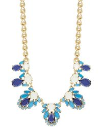 Kate Spade Stone Accented Statement Necklace - Lyst