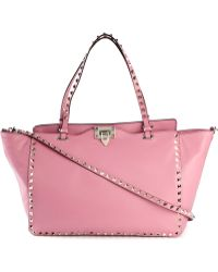 Valentino Rockstud Calf-leather Trapeze Bag - Lyst