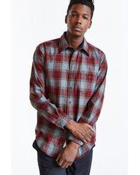 Pendleton Plaid Elbow Patch Button-down Shirt - Lyst