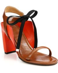 Maison Margiela Paneled Leather Ankle-Tie Sandals - Lyst