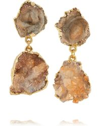 Dara Ettinger Andira Goldplated Earrings - Lyst