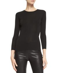 Ralph Lauren Black Label - Audrey Long-Sleeve Knit Top - Lyst