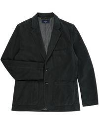 Paul Smith | Men's Dark Green Cotton And Wool-blend Unstructured Blazer | Lyst