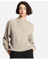 Uniqlo | Cotton Oversized High Neck Sweater | Lyst