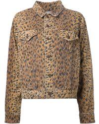 Jeremy Scott Leopard-Print Jacket - Lyst