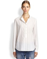 Stella McCartney Eva Sheer-pinstripe Blouse - Lyst