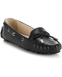 Cole Haan Cary Leather Drivers black - Lyst