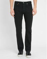Levi's | Black 501 Straight-cut Jeans | Lyst