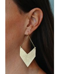 Spectrum | Angled Leather Earrings | Lyst