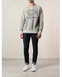 Polo Ralph Lauren Gray Printed Sweatshirt - Lyst