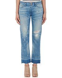 NSF - Distressed Crop Jeans - Lyst