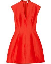 Halston Heritage Paneled Faille Mini Dress - Lyst