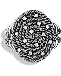 David Yurman Cable Coil Ring With Diamonds - Lyst