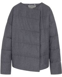 Mulberry Gray Quilted Jacket - Lyst