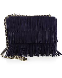 Tory Burch Fringe Suede Shoulder Bag - Lyst