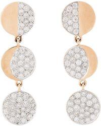 Pamela Love Moon Phase Triple-Drop Earrings gold - Lyst