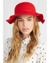 Ana Accessories Inc - Oh Classy Day Hat In Scarlet - Lyst