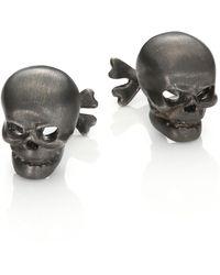 Robin Rotenier | Sterling Silver Skull & Cross Bones Cuff Links | Lyst