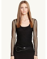 Ralph Lauren Black Label Shannon V-neck Top - Lyst