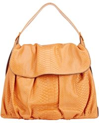 "Zagliani | Python ""Z Bag"" Shoulder Bag-Yellow | Lyst"