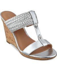 5006302a59010f Tommy Hilfiger - Women s Eleona Wedge Sandals - Lyst