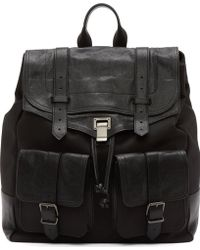 Proenza Schouler Black Canvas And Leather Ps1 Extra Large Backpack - Lyst