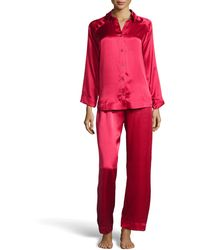 Donna Karan New York Glamour Silk Long Pajama Set - Lyst