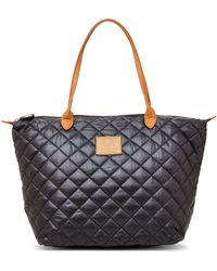 It's The Girl By Junior Drake - Black Nylon Quilted Tote - Lyst