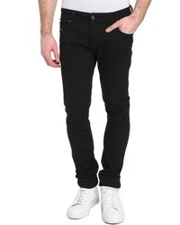 Diesel Sleenker Five-Pocket Black Jeans - Lyst